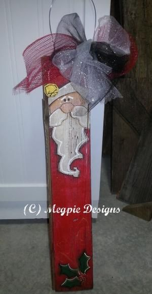 Megpie Designs: Barn Wood Santa - DCC Blog Hop by bettie