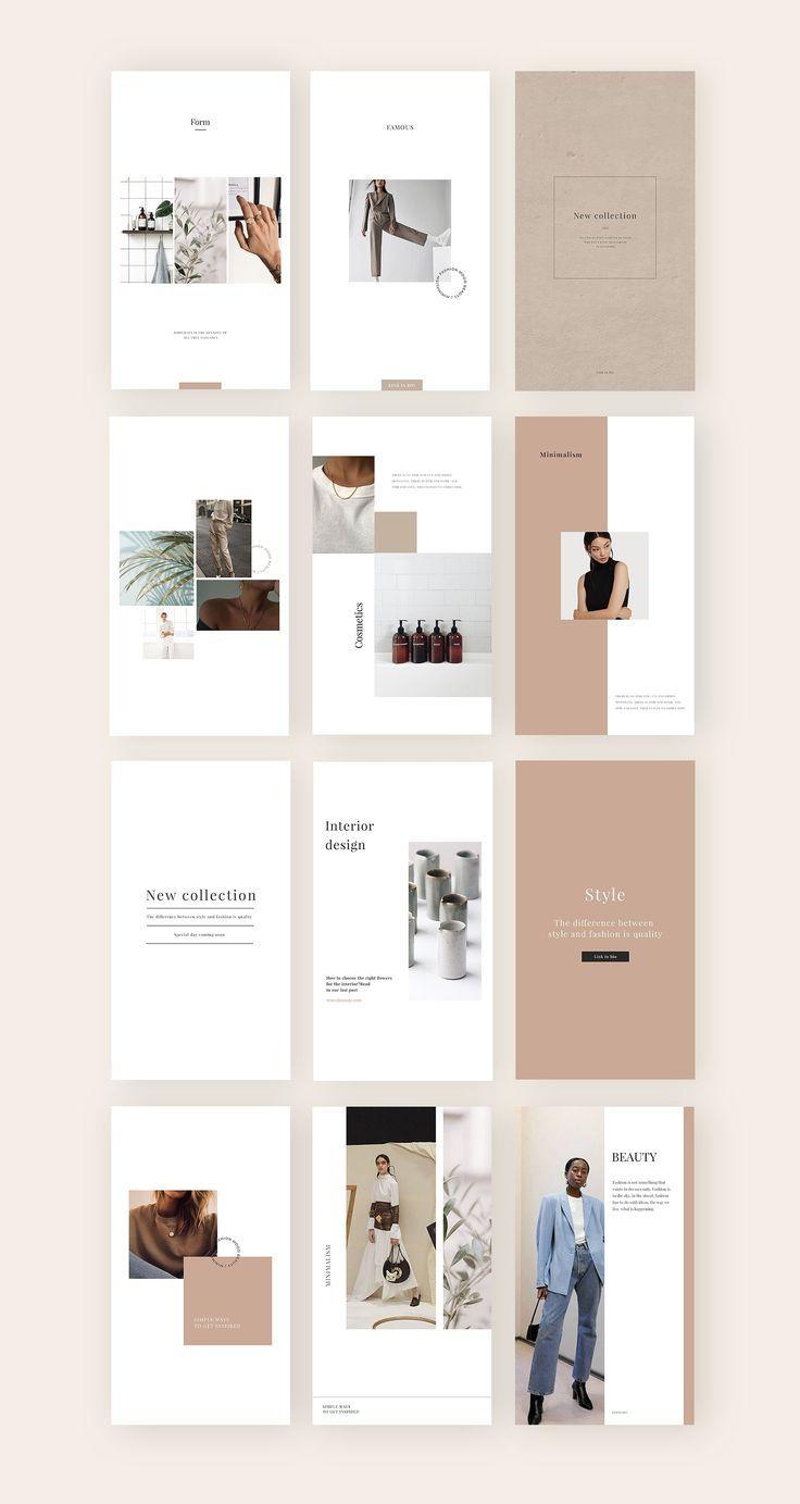 Minimalism Social Media Template By Digital Breath Templates On Creativemarket Portfolio Design Layout Instagram Template Design Magazine Layout Design
