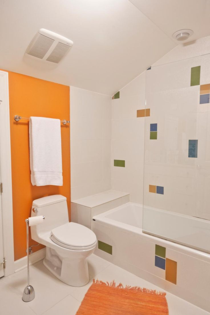 Orange Accent Bathrooms
