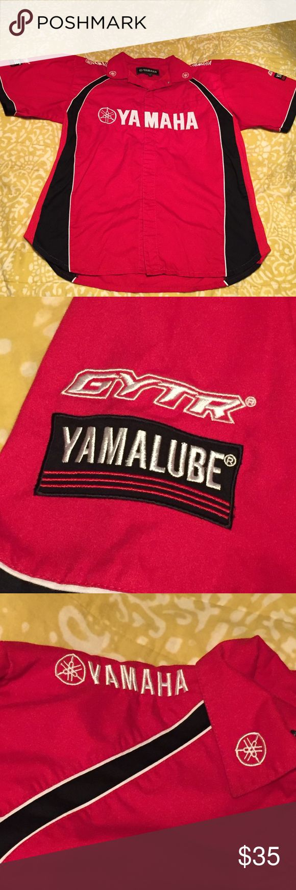 Yamaha Shop Shirt Red, black and red shop shirt. Not for sale to public, dealer only availability. Yamaha Shirts Casual Button Down Shirts