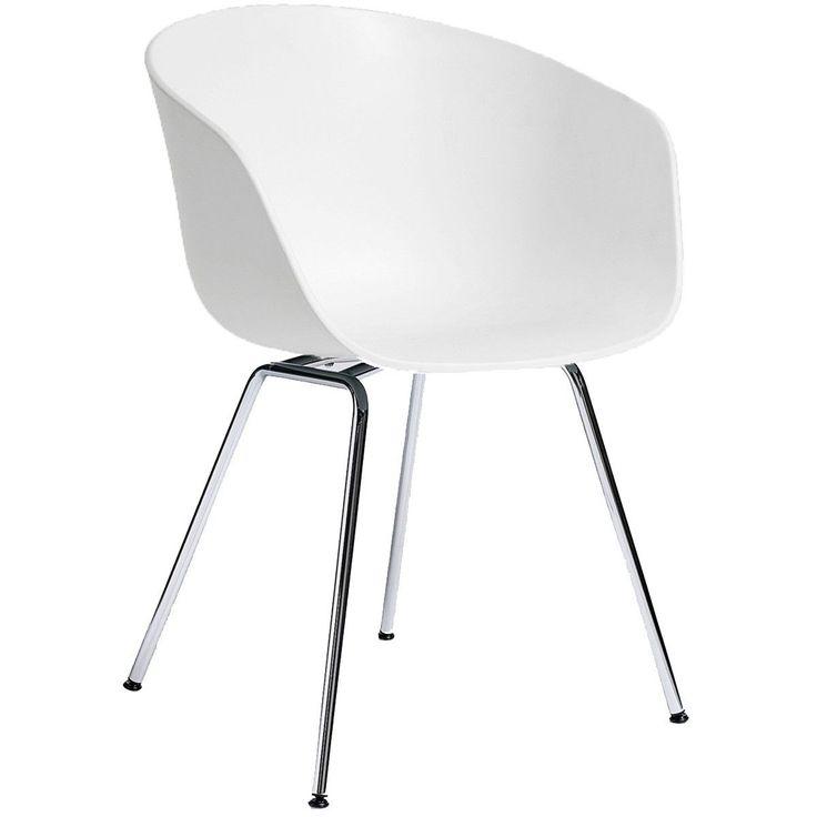About a Chair AAC26 stoel met chroom onderstel | Hay