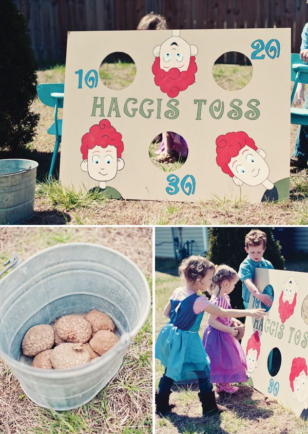 Beautiful Brave Themed Birthday Party Make your own clan crest. Haggis toss. Lol!