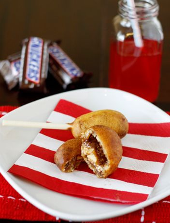 Deep-fried snickers bars