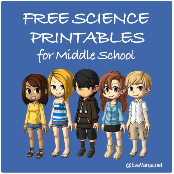 FREE Science Printables for Middle School from EvaVarga.net