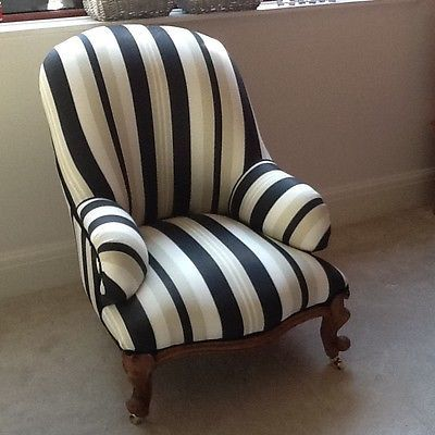 Victorian-armchair-nursing-chair-newly-reupholstered