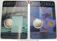 RITTER Andorra, 2x 2 Euro 2015, 30 Jahre Wahlrecht, 25 Jahre Zollunion, st #coins