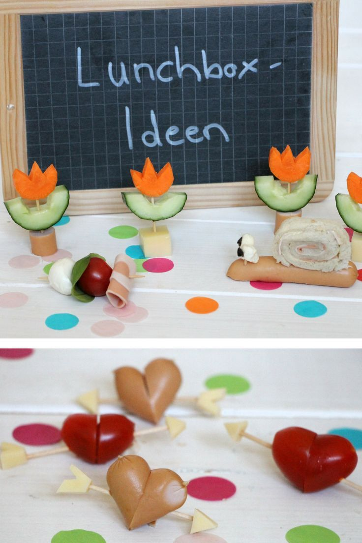 Kids Lunchbox: Ideas for healthy snacks with and without bread   – Alles rund um Gemüse