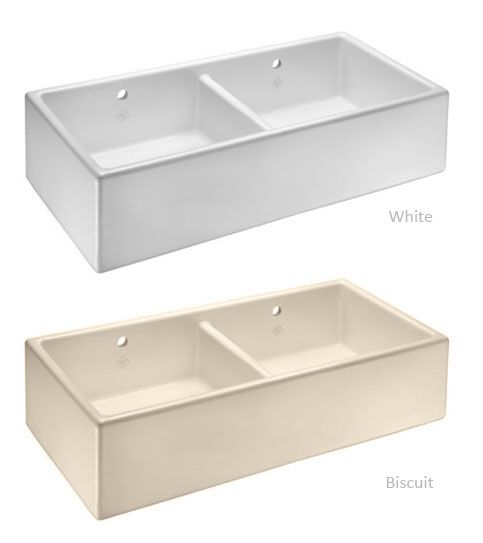 Shaws CLASSIC SHAKER DOUBLE 1000 Belfast Sink £499 No tap hole