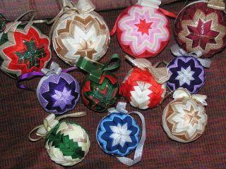 Vianočné gule - falošný patchwork