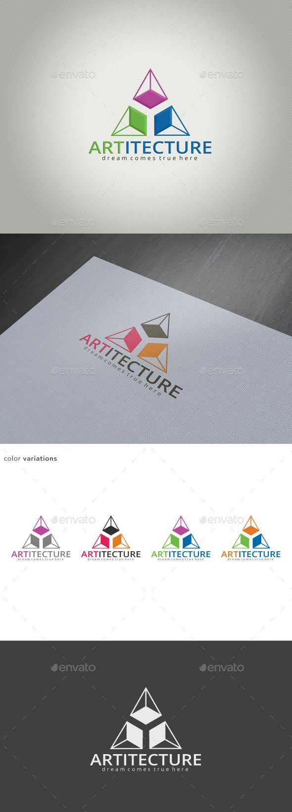 Art & Architecture Logo — Vector EPS #developing #creative • Available here → https://graphicriver.net/item/art-architecture-logo/11582279?ref=pxcr