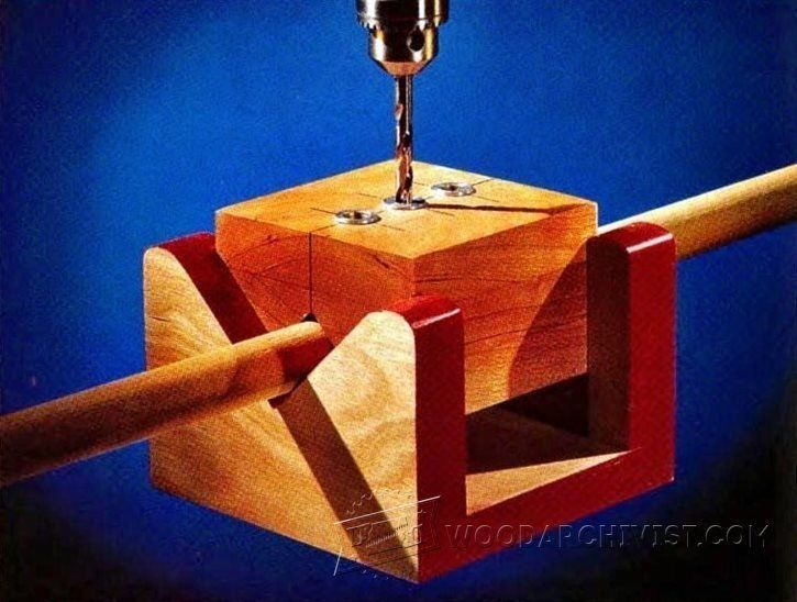 3899-V-Block Drill Jig #WoodworkingTips