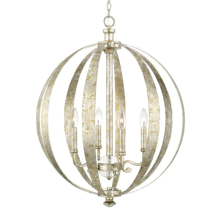 Silver and Gold Globe Chandelier