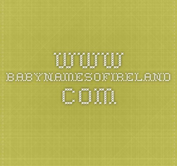 Irish girl names.