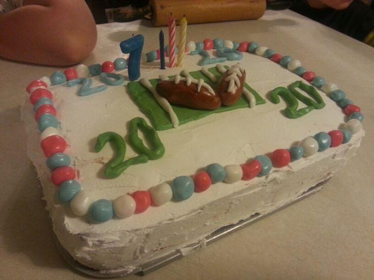 Ice cream cake made for my sons 20th birthday cake