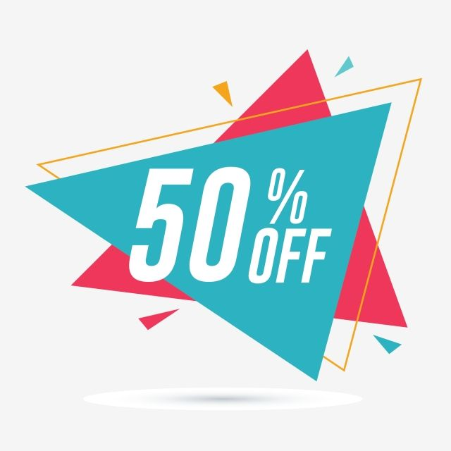 50 Off Discount And Sale Promotion Banner Friday Clipart Flat Percent Png And Vector With Transparent Background For Free Download Sale Poster Sale Promotion Sticker Store