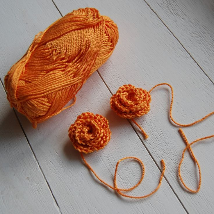 Oranje roosjes haken voor Koningsdag