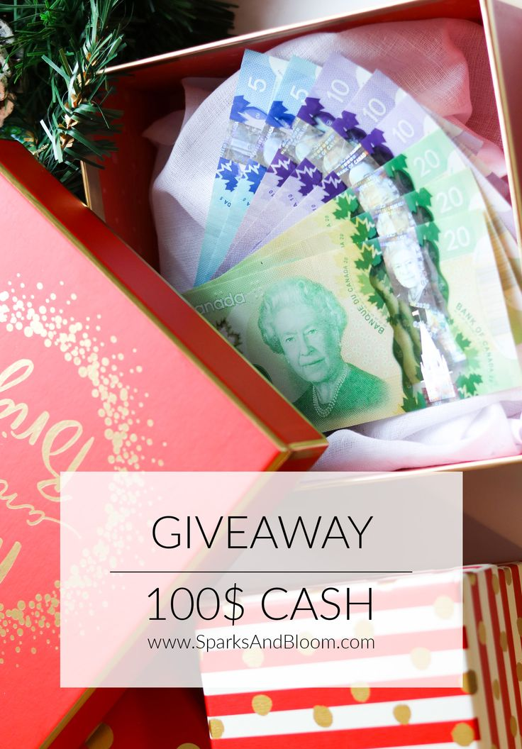 #Sparksandbloomcash The Sparks and Bloom sisters want to spoil you for Christmas🎄🎁! We want to thank you for being part of this adventure with us by giving you a chance to win a 100$ cash. A$ 100 CASH 💵 to spend on WHATEVER YOU WISH FOR 😀 . It's time to Spoil yourself with some free money !! To enter the giveaway 💰🎁🎉 ✔️ 1. Follow Sparks and Bloom on Pinterest ; ✔️ 2. Pin the contest's picture to one of your boards and make sure to tag #Sparksandbloomcash ! #Contest #concours #money