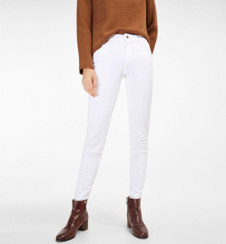 Pantalón raso tiro alto - otros colores en otros materiales