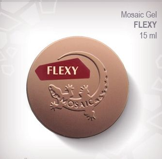 Flexy Gel Very liquid and flexible gel designed for natural nail strengthening. Will not crack or chip and can be soaked off or buffed off. Cure time is 2 mins un 36Watt UV lamp or 30 secs in LED lamp.  Available in 15ml