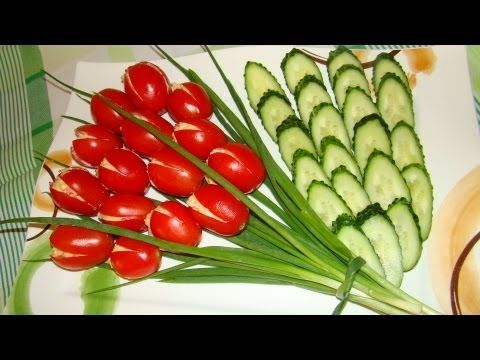NapadyNavody.sk | Geniálny nápad na slávnostné stolovanie. Chutná kytica tulipánov (Videonávod)