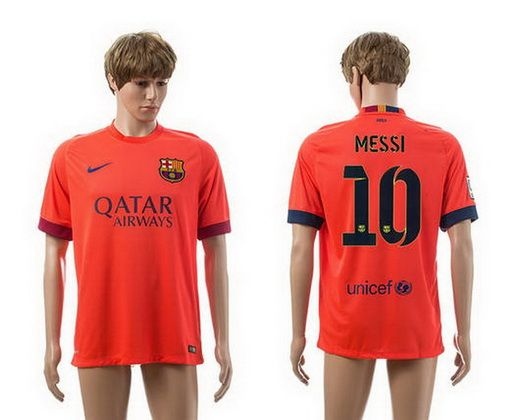 1ba642ceae6 ... MASCHERANO 2015-16 Barcelona 10 MESSI Third Away Women Jersey Barcelona  Away 10 Messi Thailand Quality Soccer Jersey 14-15 Season Orange . ...