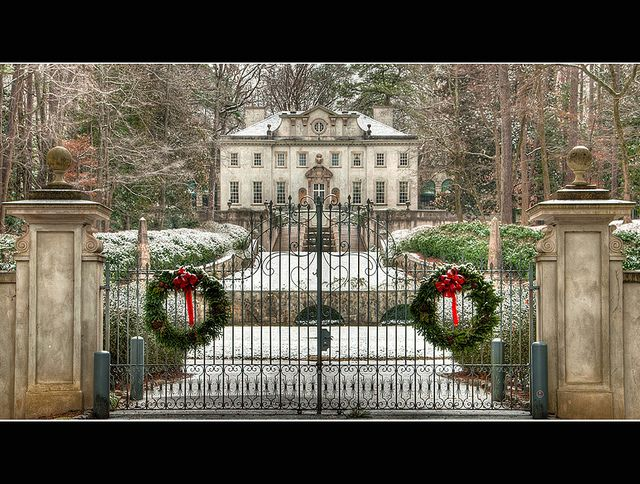 gate in front of historic Swan House in Atlanta, Georgia -- hauntingly beautiful all around