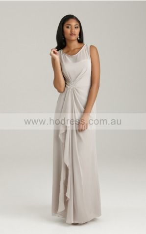 Zipper Floor-length Natural Sheath Chiffon Formal Dresses amfa307021