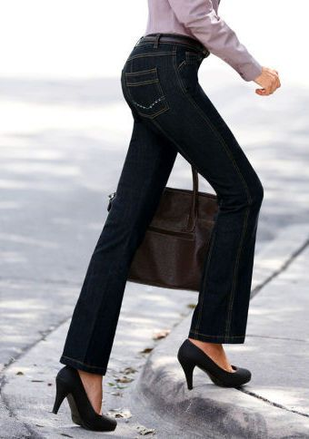 Džínové kalhoty s vysokým pasem #ModinoCZ #forfreetime #comfortable #stylish #fashion #trendy #clothing #obleceni #moda #volnycas #stylove