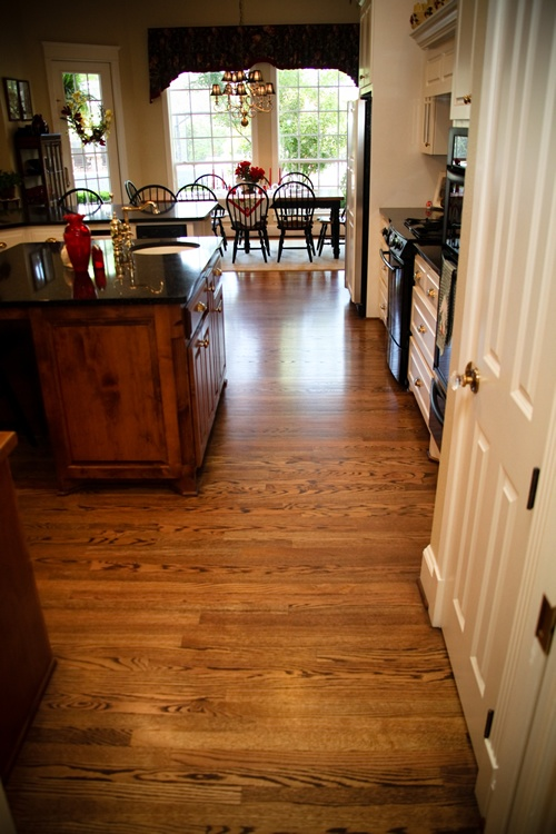 Solid 2 14 inch wide Red Oak  Spice Brown Stain  home