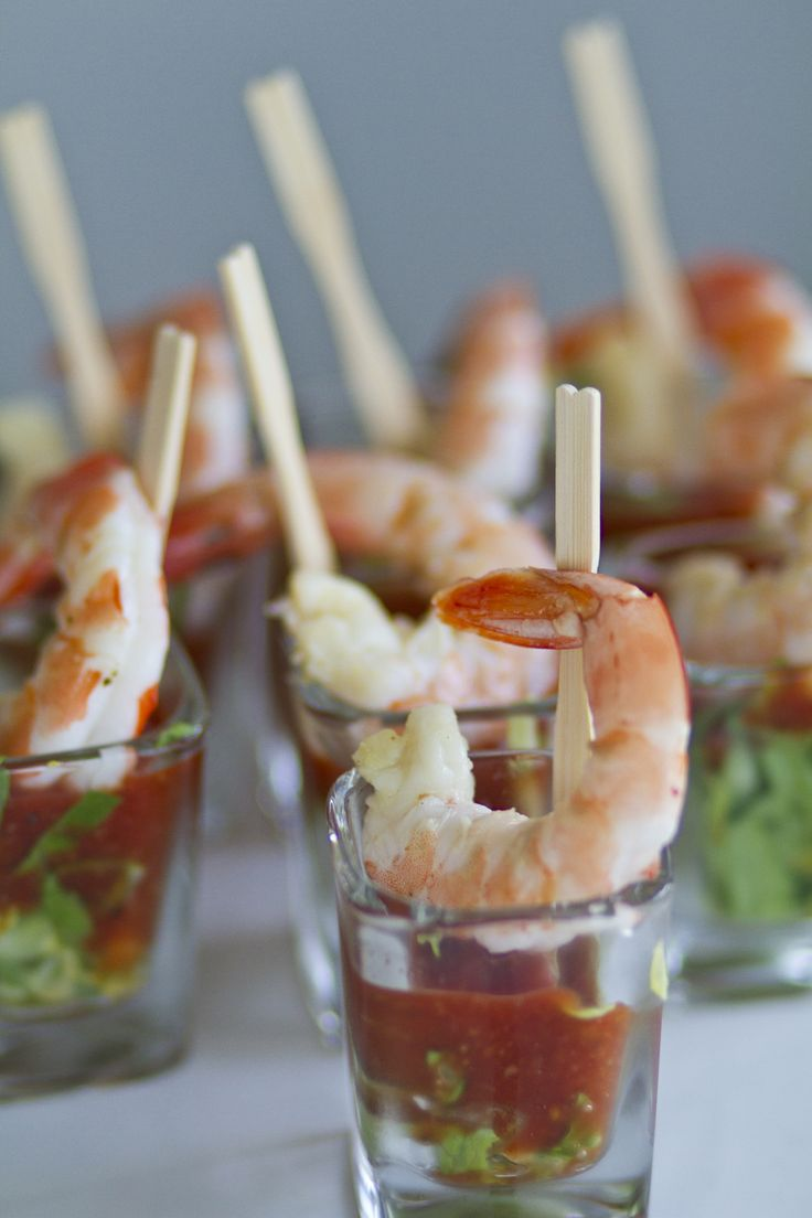 individual shrimp cocktails