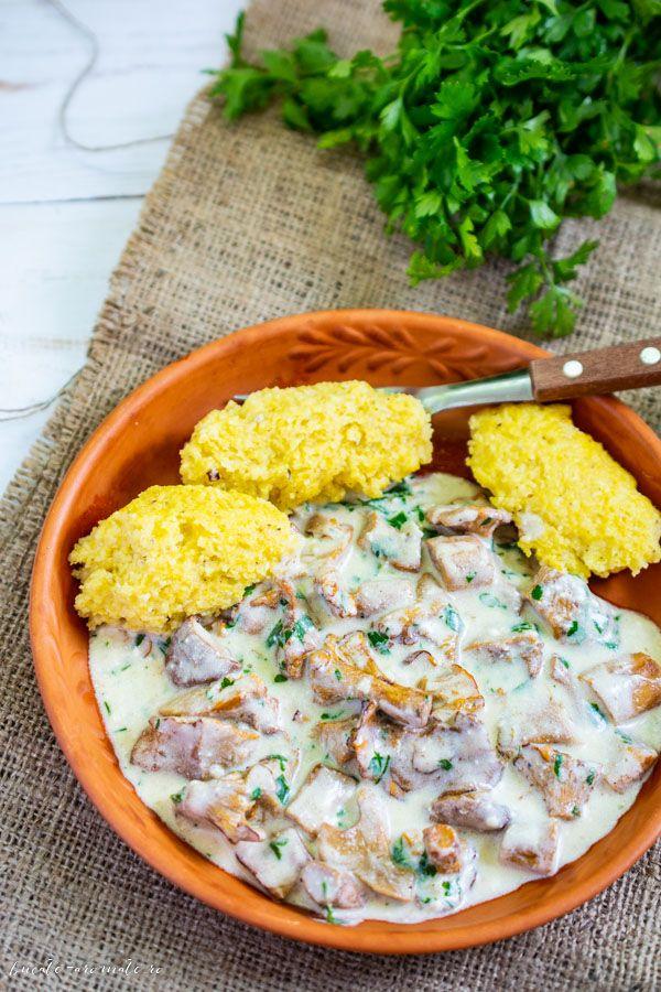 Rețetă Ciuperci cu smântână și piept de pui