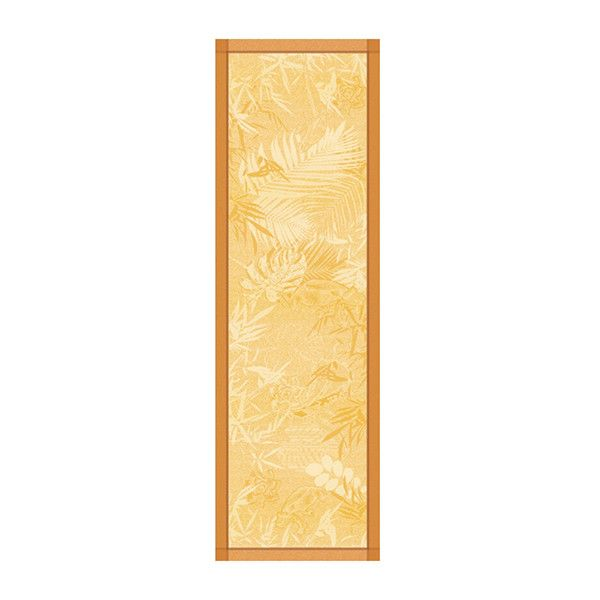 Garnier-Thiebaut Borneo Table Runner in Ambre ($70) ❤ liked on Polyvore featuring home, kitchen & dining, table linens, green table runner, beaded table runner, tropical table linens, winter table runner and pattern table runner