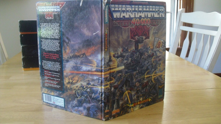 """The original, 1st edition Warhammer 40K rulebook. Considered a myth by most, coveted by many, and guarded with blades and rage by a privileged few."""
