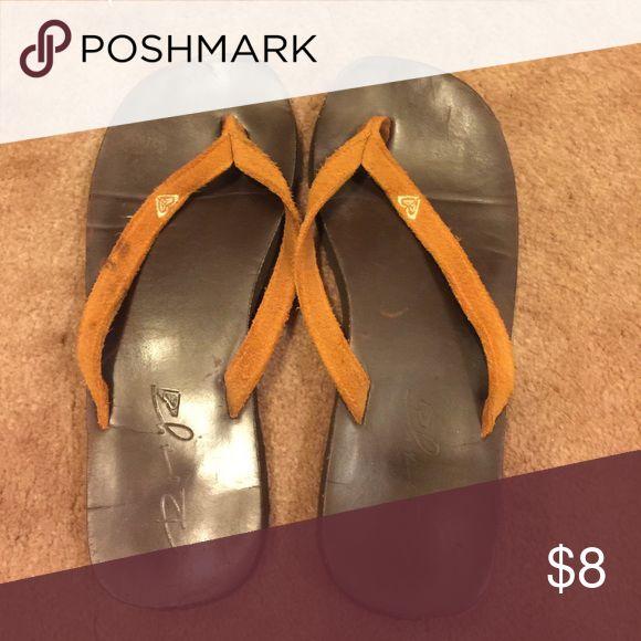 Roxy Orange Flip Flops Roxy Orange Flip Flops, size 7/8 Roxy Shoes Sandals