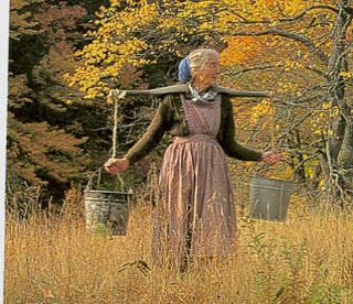 might need to remember Tasha Tudor's way of fetching Spring Water