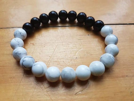 Check out this item in my Etsy shop https://www.etsy.com/ca/listing/572158193/white-howlite-bracelet-womens-jewelry