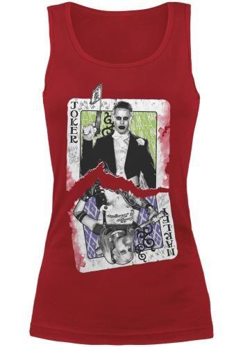 "Top donna rosso ""Cards"" di #SuicideSquad."