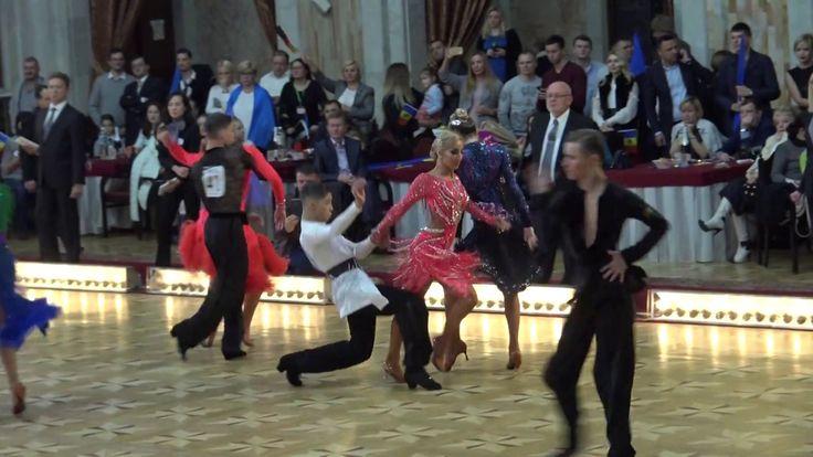 WDSF World Championship Junior II Ten Dance*MARIA SI COSMIN* Semifinal C...