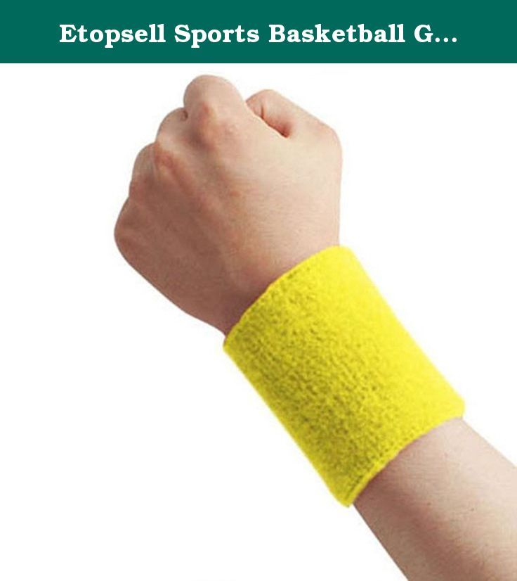 Etopsell Sports Basketball Gym Unisex Sweat Band Sweatband Wristband Wrist Protect Band. Sports Wrist Sweatbands Tennis Squash Badminton Gym Wristband Exercise Fit This is 1pcs Wrist Sweat bands ideal for any sports or going to the gym giving you a professional look whilst collecting excess sweat. High Absorbency Sweat Band Soft and comfortable to wear Unisex suitable for men or women Stretchable Made from Cotton Mix Size 8x7.5cm/3.2''-3.0'' Machine Washable at 30C or less .