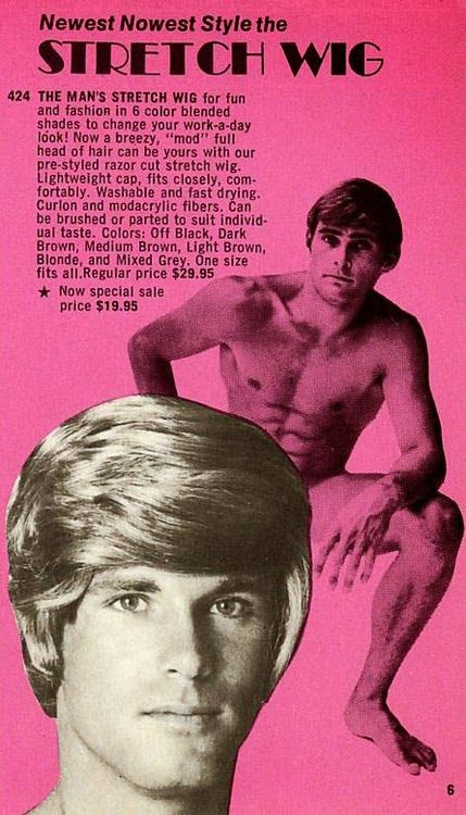 You know a wig is terrible when it makes a handsome, 20-something look awful.
