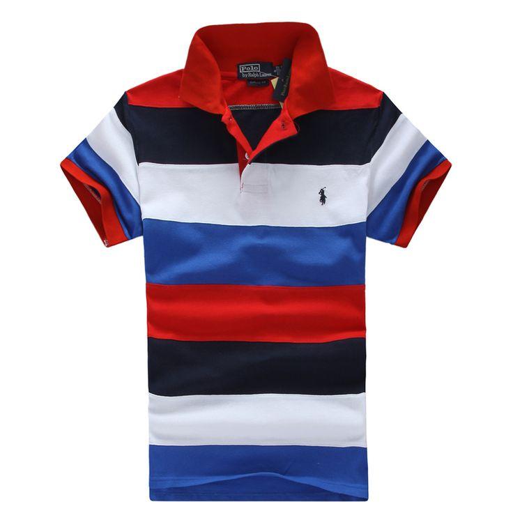 Ralph Lauren# polo shirt# men # Stripe Hit color#golf