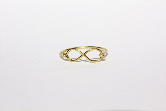 Gold Infinity Wire Ring by MeekAndNeek on Etsy