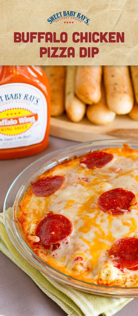 Sweet Baby Ray's #TailgateCertified Buffalo Chicken Pizza Dip