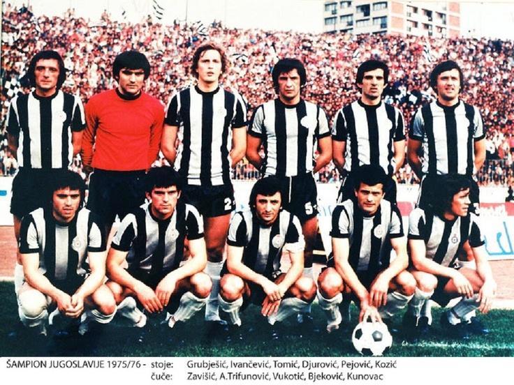 Fudbalski klub Partizan, de Belgrado, Campeón de la Liga de Yugoslavia, 1975/76