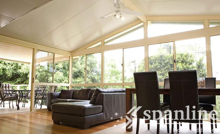 Extend your living space with a Spanline Glass Enclosure. Keep the weather out and the fun in!