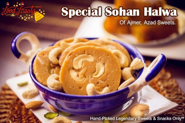 Have you ever had the opportunity to plunge into the exotic richness of Special #SohanHalwa of #Ajmer, made with pure desi Ghee, Kaju (cashewnuts), Pistachios, flour and sugar?