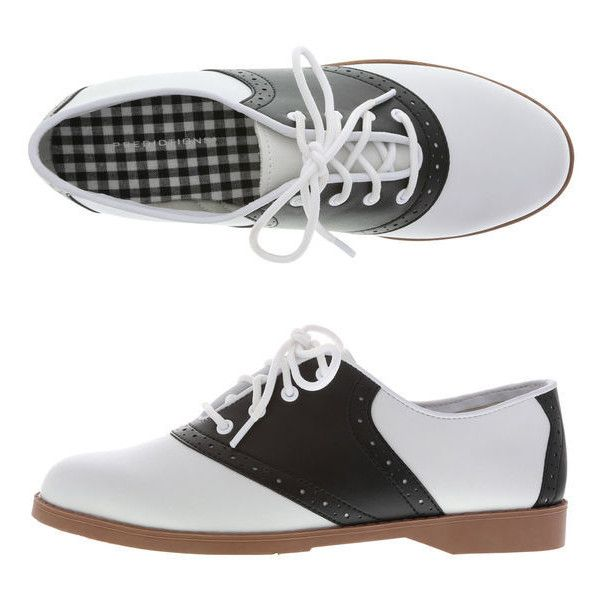 Women's Saddle Oxford (€27) ❤ liked on Polyvore featuring shoes, oxfords, cushioned shoes, light weight shoes, lightweight shoes, perforated oxford shoes and perforated shoes