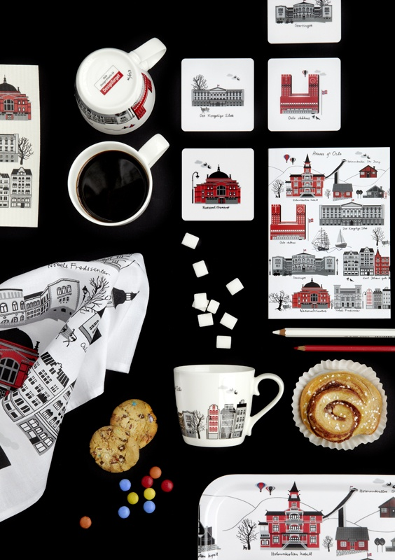 Pattern... Houses of Oslo by Emelie Ek design . Products availble at Designtorget in Oslo