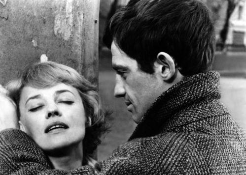 Jeanne Moreau et Jean-Paul Belmondo dans le film Moderato cantabile de Peter Brook en 1960