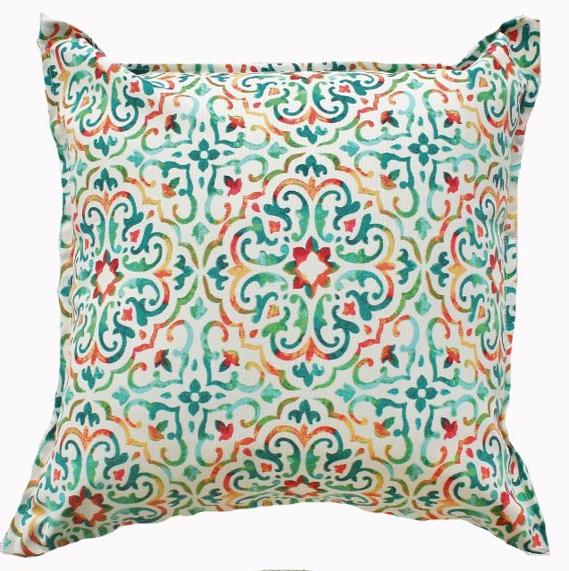 There is no easier or cost effective way oftransforming yourhomewith theGemstoneMosaicOutdoor Indoor Cushion.